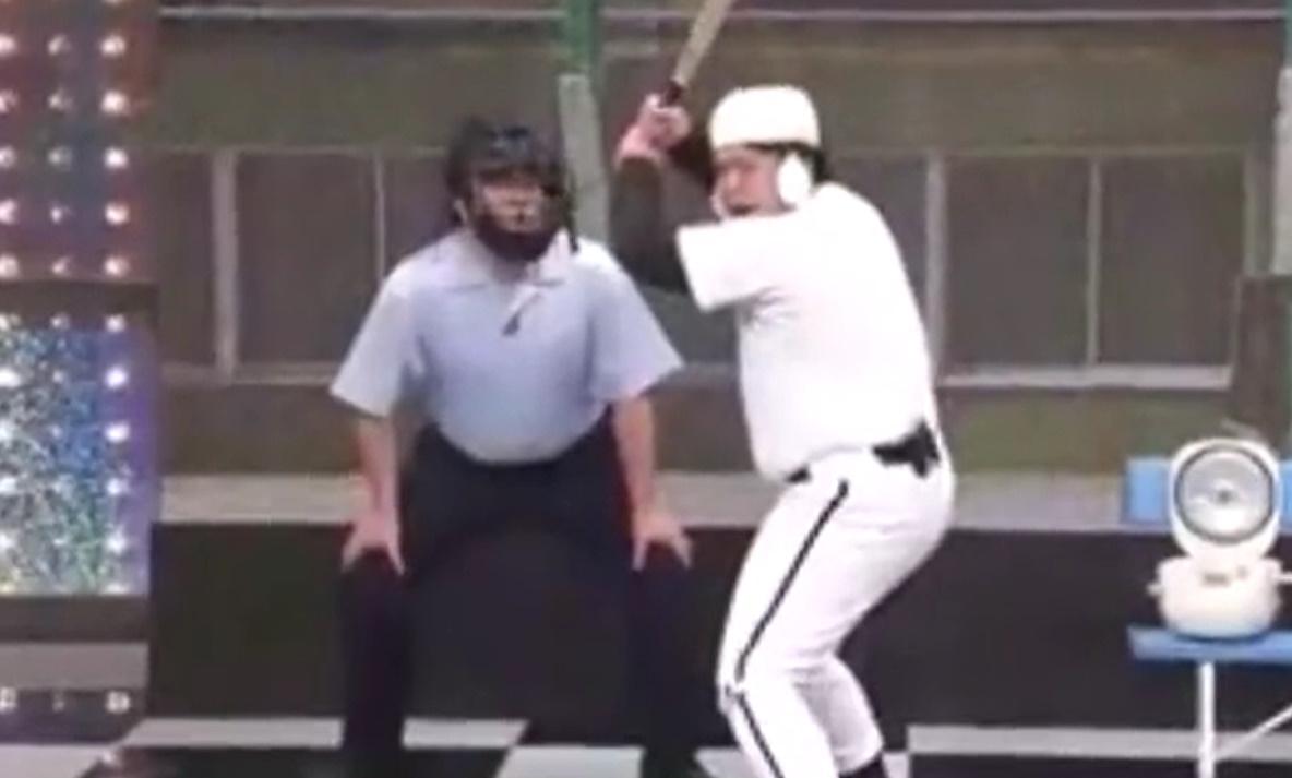 大自然 にちようチャップリン コント「野球」